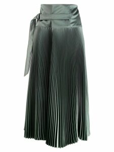 Brunello Cucinelli pleated midi skirt - Green