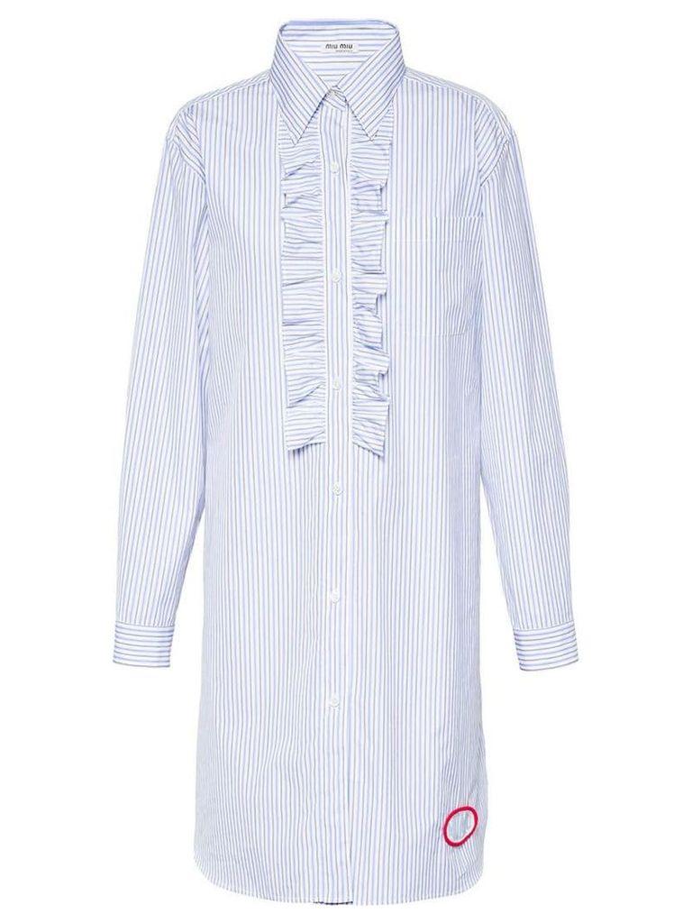 Miu Miu Poplin chemisier dress - Blue