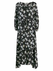 Dorothee Schumacher paint spots midi dress - Blue
