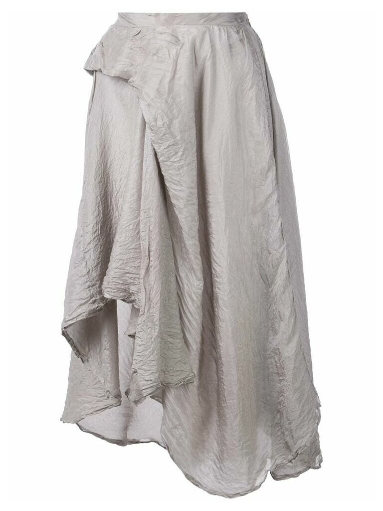 Marc Le Bihan asymmetric hem skirt - Grey