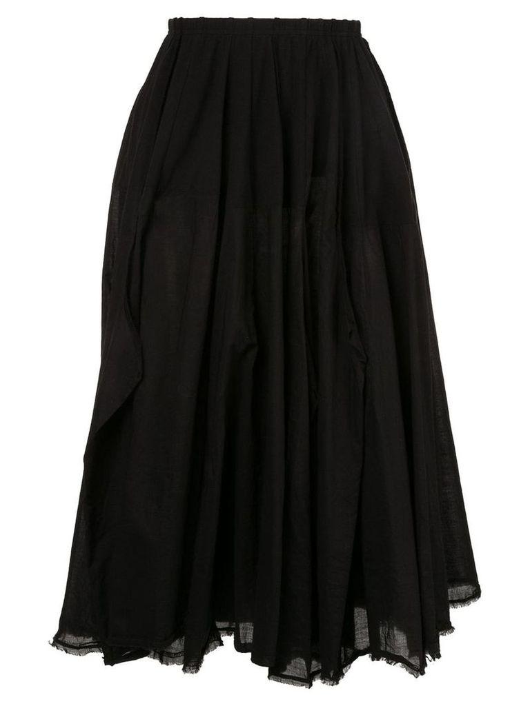 Rundholz flared midi skirt - Black