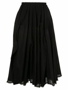 Rundholz flared midi skirt - Black