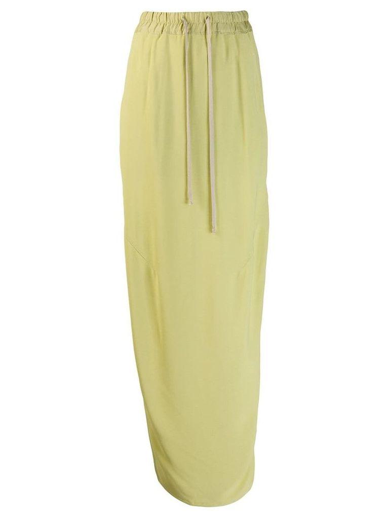 Rick Owens side slit skirt - Green