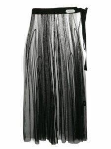 Dorothee Schumacher tulle midi skirt - Black