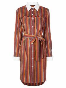 Rosie Assoulin striped shirt dress - Orange