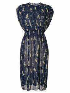 Ballsey paisley pleated dress - Multicolour
