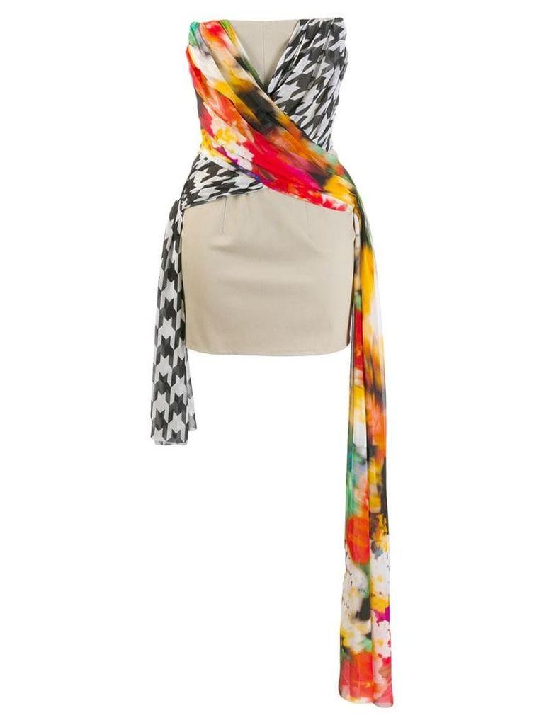Giuseppe Di Morabito strapless dress - Neutrals