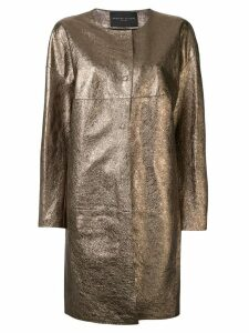 Fabiana Filippi collarless metallic coat - Gold