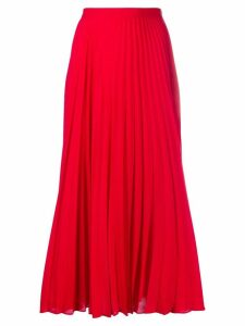Valentino pleated midi skirt - Red
