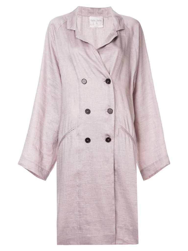 Forte Forte double breasted trench coat - Pink