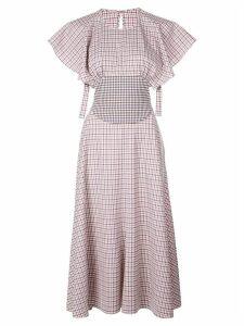 Rosie Assoulin plaid midi dress - White