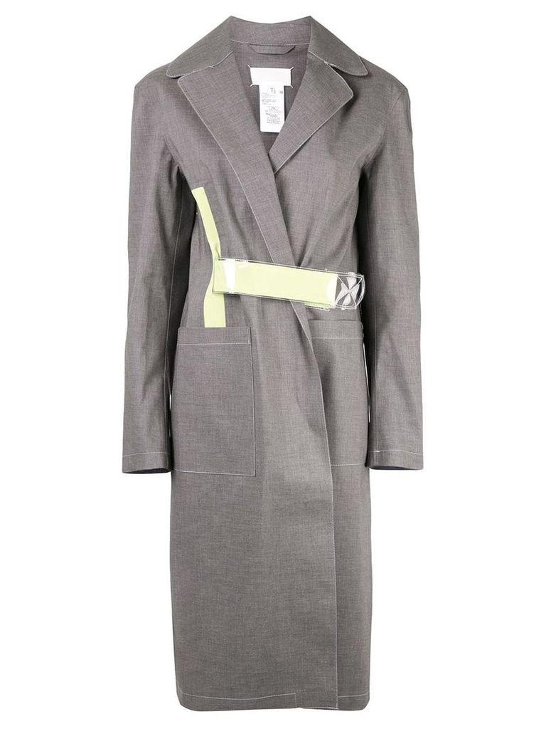 Maison Margiela belted trench coat - Grey