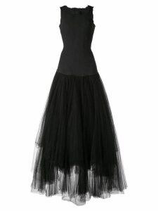 Marc Le Bihan tulle panel gown - Black