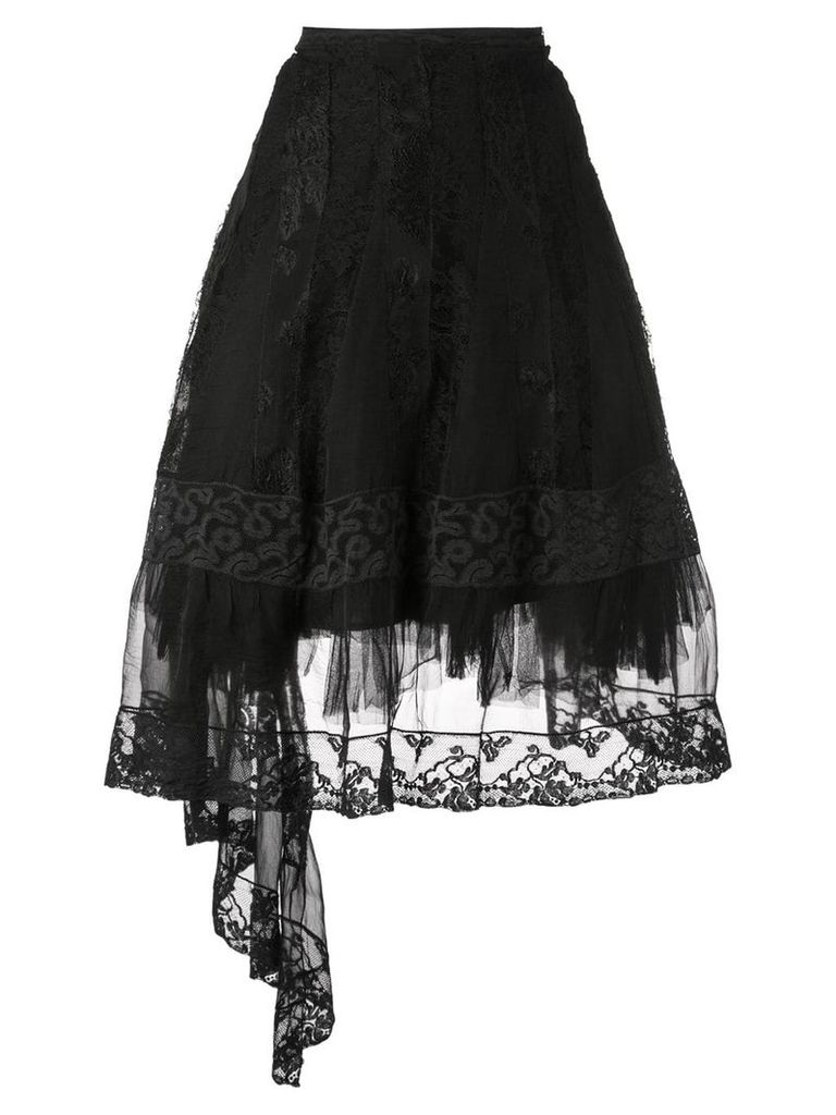Marc Le Bihan lace A-line skirt - Black