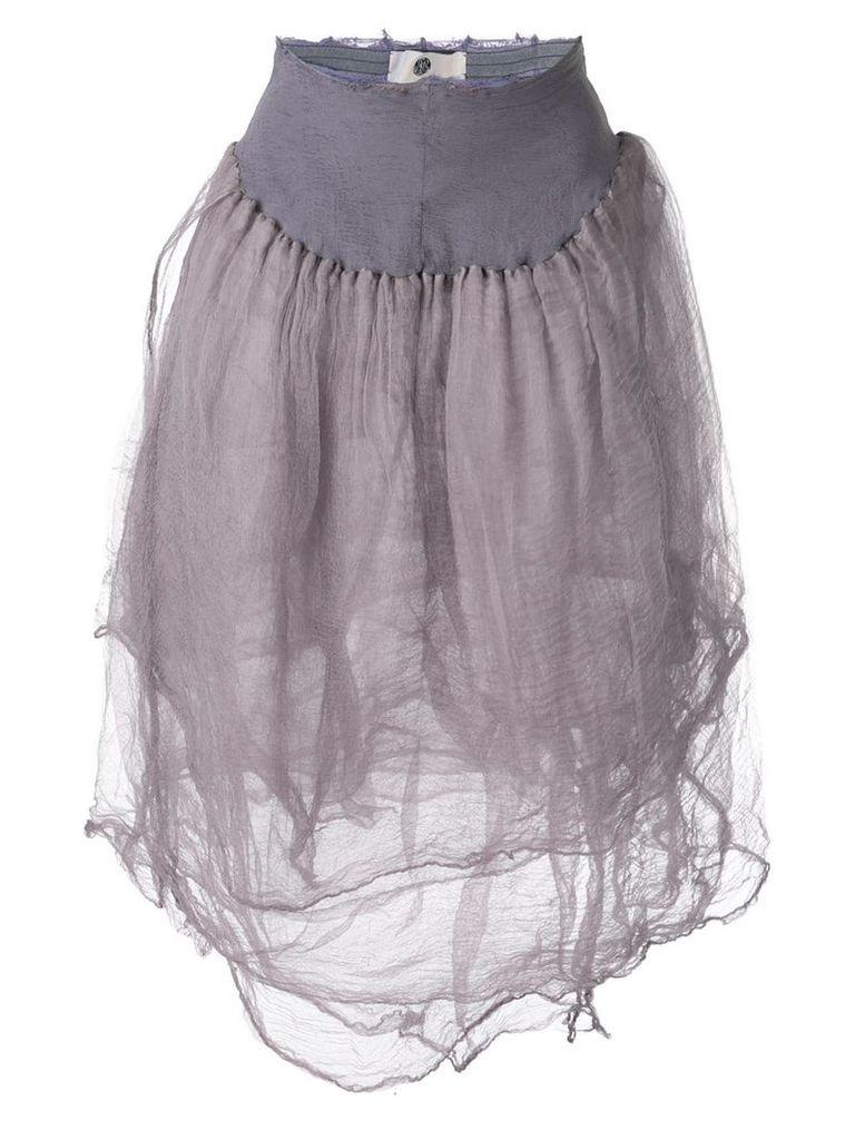 Marc Le Bihan elasticated waist skirt - Purple