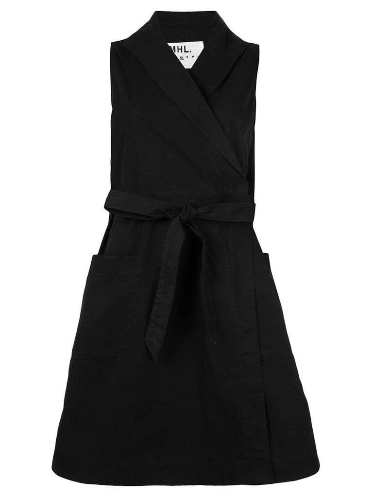 Margaret Howell tie-waist wrap dress - Black
