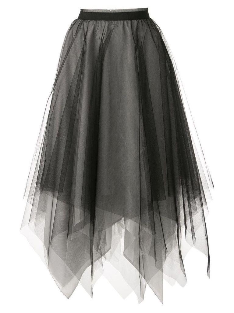 Marc Le Bihan tulle midi skirt - Black