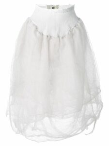 Marc Le Bihan elasticated waist skirt - White