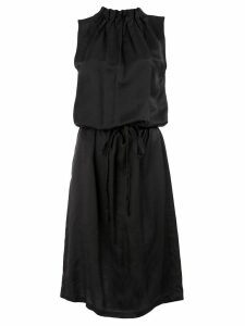 Ann Demeulemeester sleeveless ruched midi dress - Black