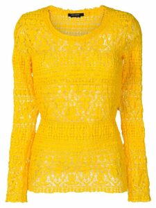 Isabel Marant Yulia stretch lace top - Yellow