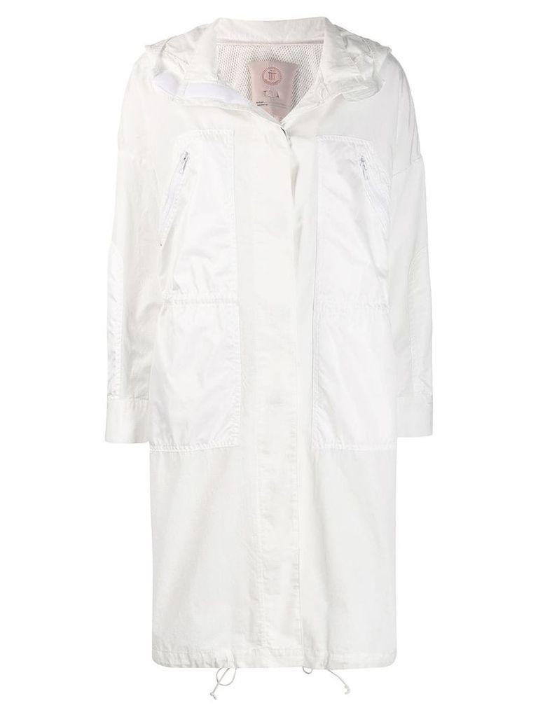 Tela hooded parka coat - White