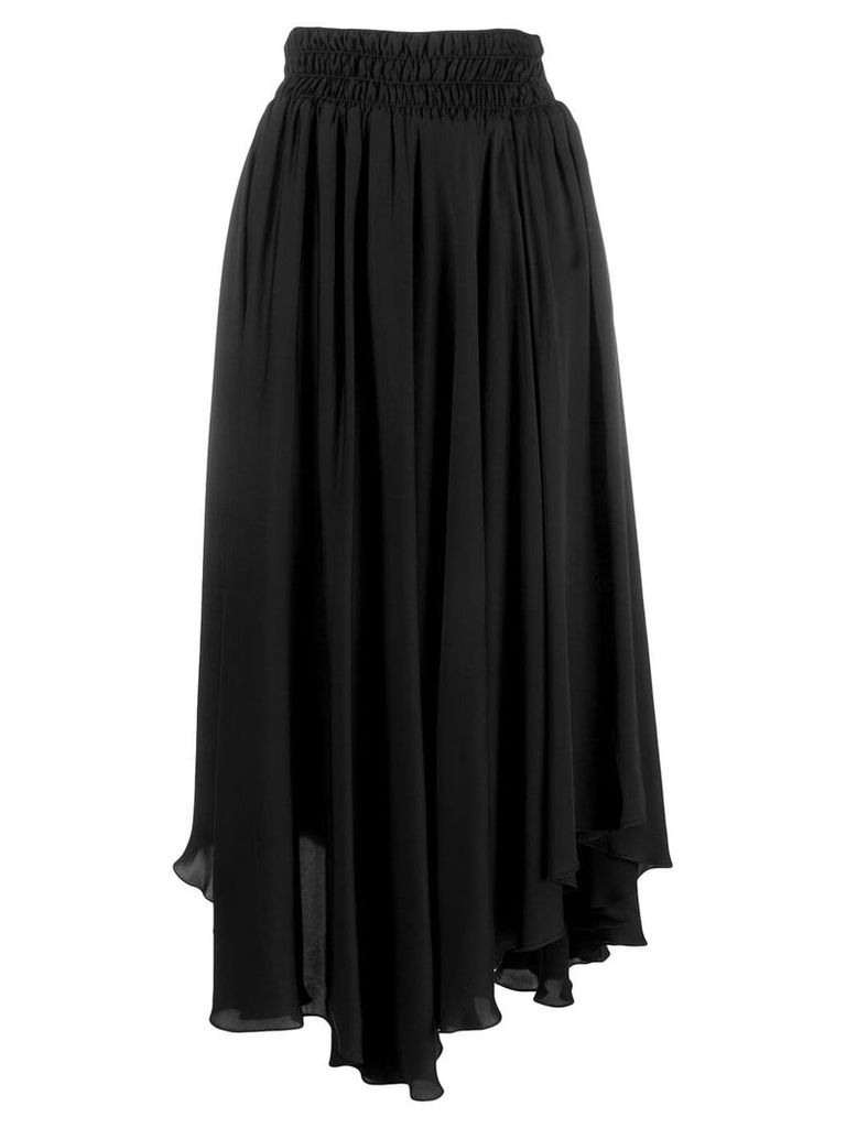 Fabiana Filippi asymmetric pleated skirt - Black