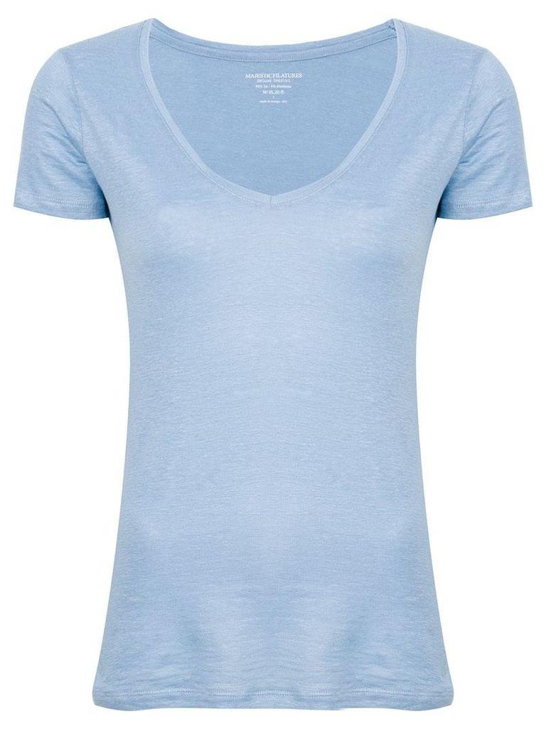 Majestic Filatures v-neck T-shirt - Blue