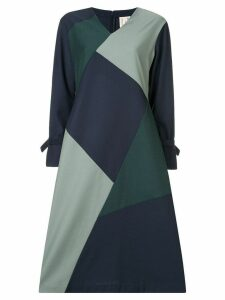 Bodice Studio geometric panel midi dress - Green