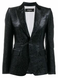Dsquared2 glitter single breasted blazer - Blue