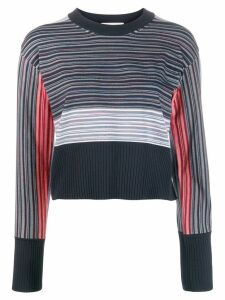 Sportmax contrast striped sweater - Blue