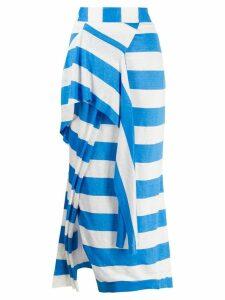 Chalayan striped asymmetric skirt - Blue