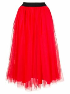 MSGM tulle midi skirt - Red