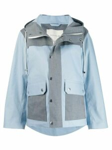 Mackintosh Blue & Grey Bonded Cotton Field Parka GR-117/W/CB