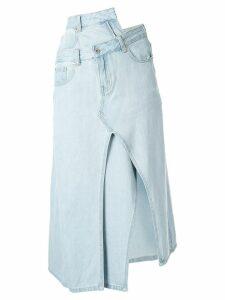Ground Zero asymmetric denim skirt - Blue