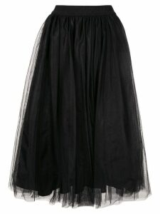 MSGM tulle midi skirt - Black