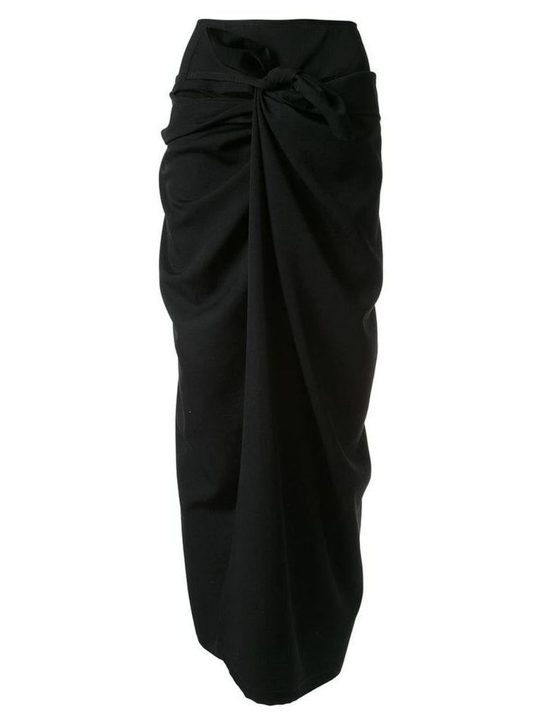 Yohji Yamamoto knotted long skirt - Black