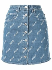 Ground Zero buttoned front denim skirt - Blue
