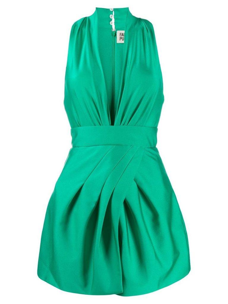Fausto Puglisi V-neck mini dress - Green