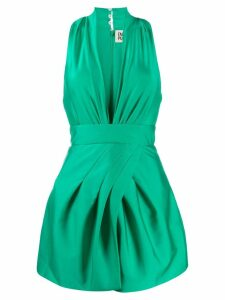 Fausto Puglisi V-neck mini dress - Green