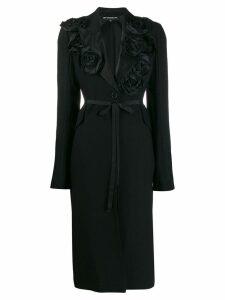 Ann Demeulemeester corsage detail coat - Black