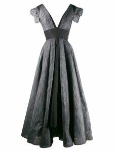 Avaro Figlio metallic sheen maxi dress - Black