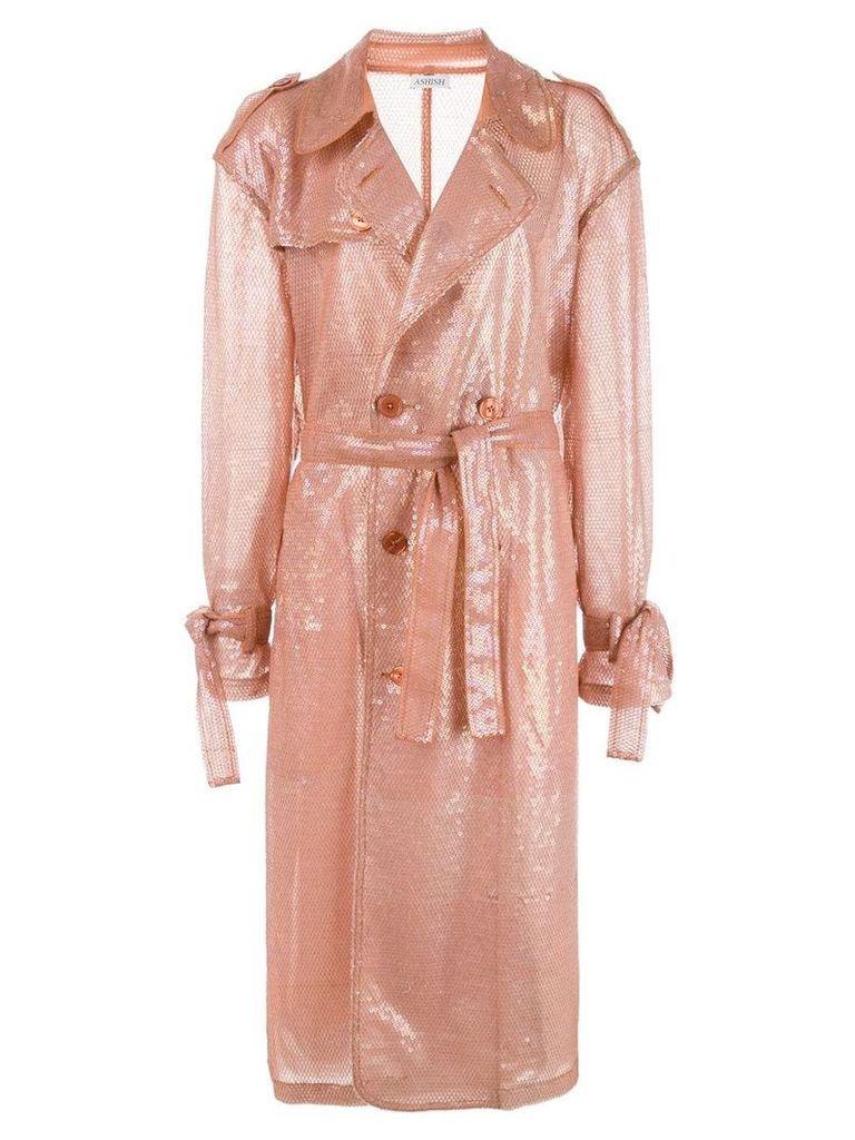 Ashish sequin trench coat - Pink