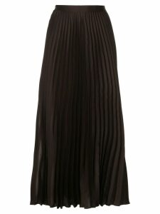 GINGER & SMART Depth pleat skirt - Brown