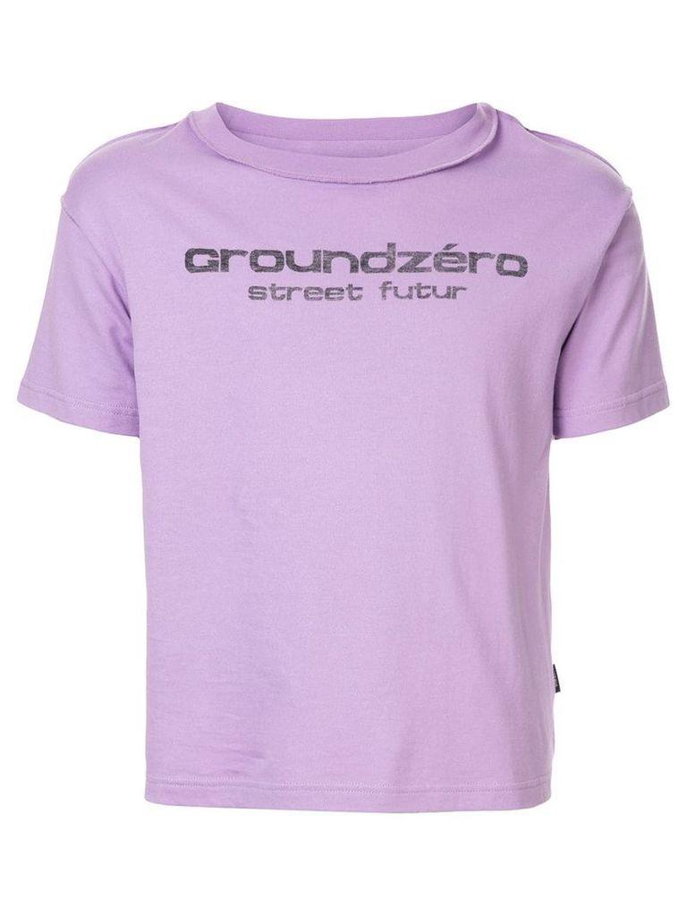 Ground Zero logo print T-shirt - Purple