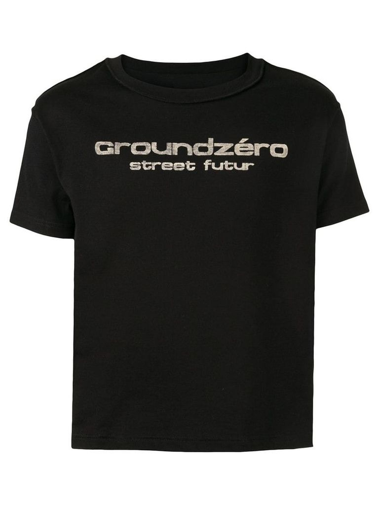 Ground Zero logo print T-shirt - Black
