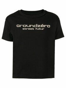 Ground Zero logo print T-shirt - Black