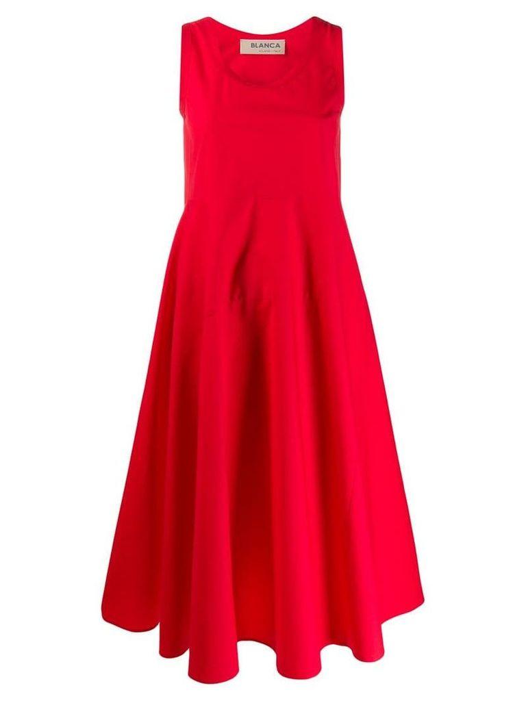 Blanca scoop neck dress - Red