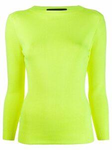 Juun.J boat neck jumper - Yellow