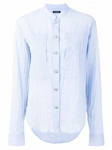 Balmain embossed button shirt - Blue