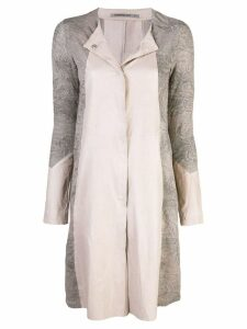 Transit panelled midi coat - Silver